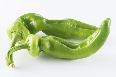 green pepper: Green pepper isolated