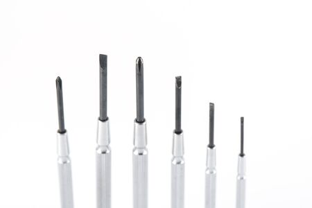 screwdrivers: Screwdrivers kit on white background