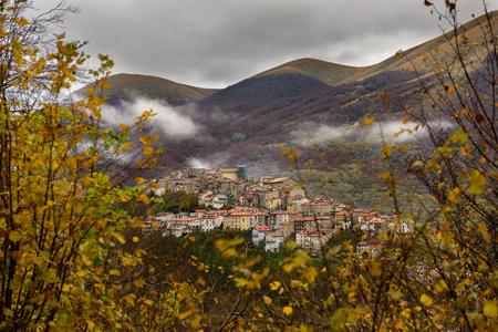Autumnal landscape of Abruzzo National Park, Opi