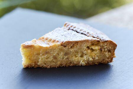 Neapolitan Pastiera (Easter cake), close-up