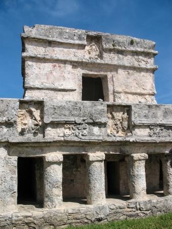 tulum: Temple of the Frescoes Stock Photo