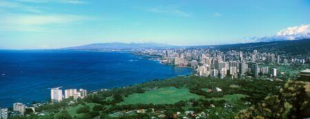 Honolulu, Waikiki Beach from Diamond Head