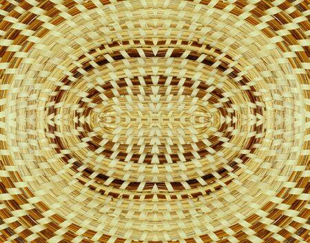 Woven basket background design