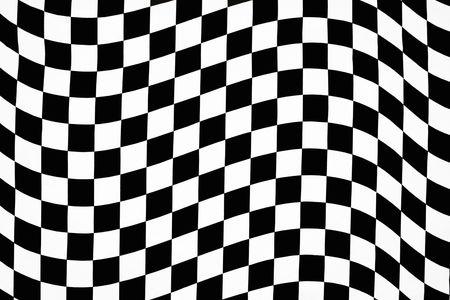 Wavy checkered pattern background