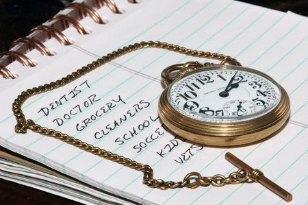 pocket watch: To do list and pocket watch
