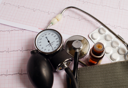 hypotension: Regular pressure measurement and correction using medicines