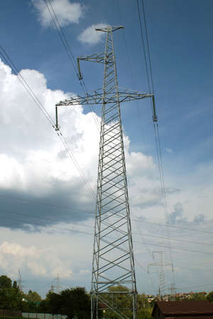 powerline: High voltage powerline (electricity transmission)