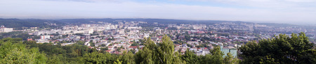 Panoramic view of northern districts of Lviv, Ukraine.