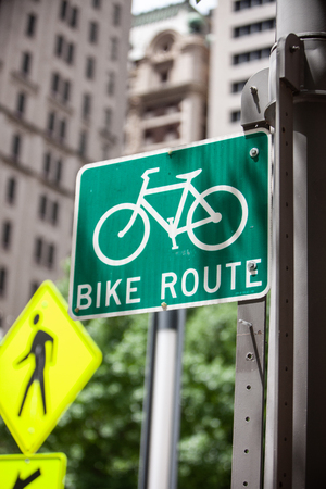 Urban Bike Route Sign