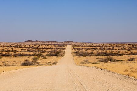Typical road surface between Kaokoland and Cape Cross in Namibia