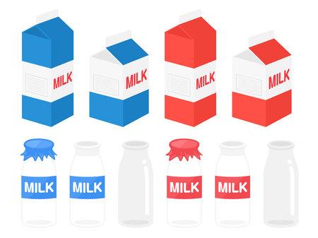 Milk illustration set