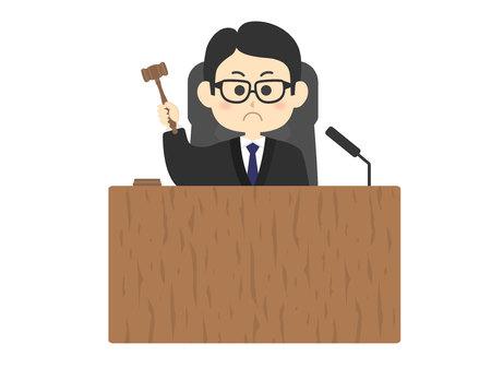 the Judge  イラスト・ベクター素材
