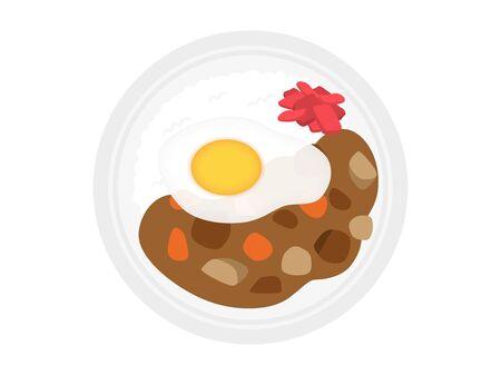 Curry rice Illustration