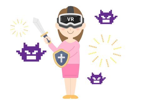 VR game  イラスト・ベクター素材