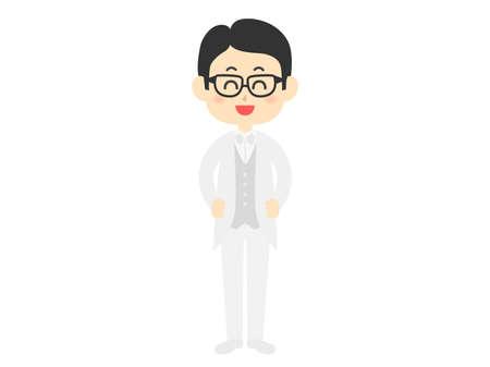 Illustration of a man in a tuxedo. Ilustração