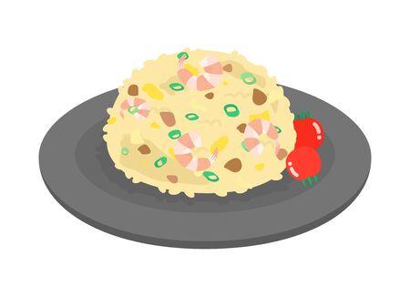 Arroz frito Ilustración de vector