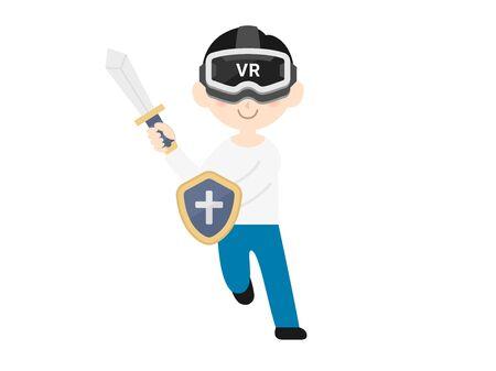 VR game Ilustração