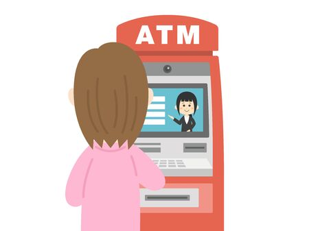 ATM  イラスト・ベクター素材