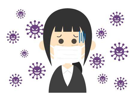 Enfermo Ilustración de vector