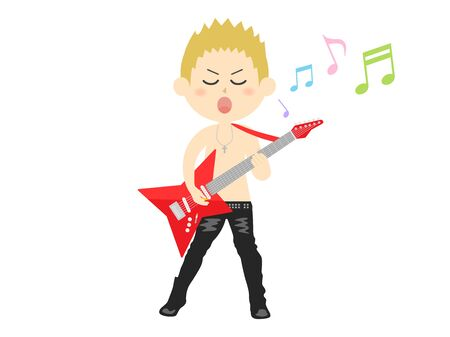 Illustration of a male rock musician.
