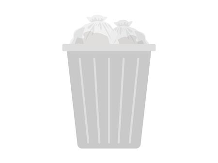 Garbage can  イラスト・ベクター素材