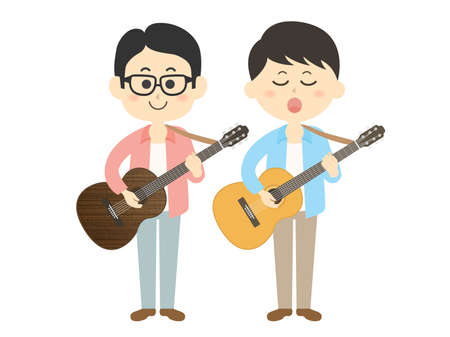 Illustration of a pair of male musicians.