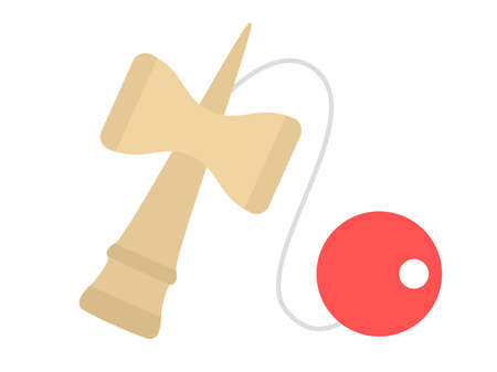 An illustration of Kendama, an old Japanese toy.