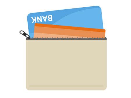Illustration of a bankbook on a porch.