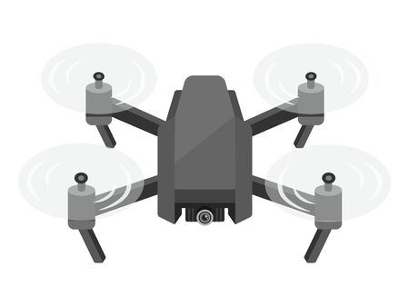 Illustration of a flying drone  イラスト・ベクター素材