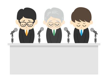 Illustration to apologize to three men