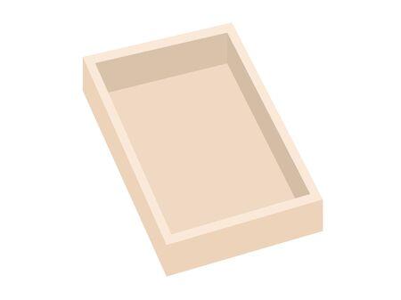 Wooden box  イラスト・ベクター素材