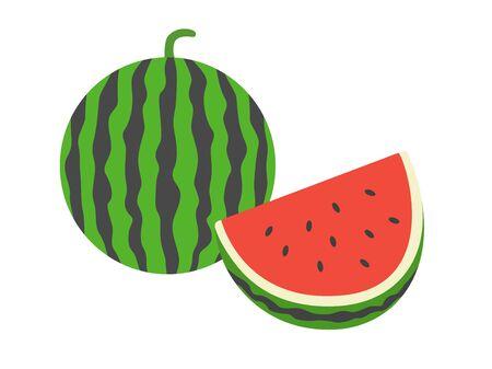 Watermelon  イラスト・ベクター素材