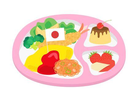 Children lunch Illustration