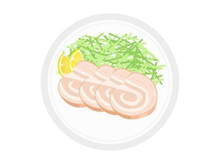 Roasted pork fillet  イラスト・ベクター素材