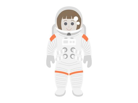 An astronaut's illustration. Illustration