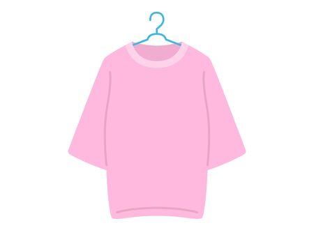 pink tshirt Reklamní fotografie - 126406015