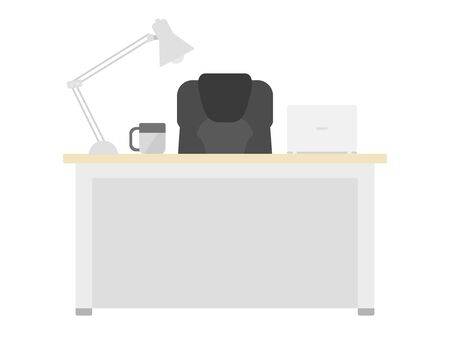 Illustration of work desk and chair