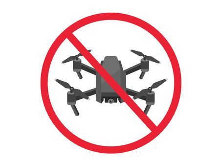 Illustration of drone ban mark