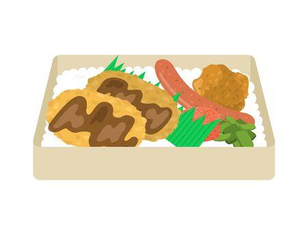 Illustration of Mentikatsu Bento