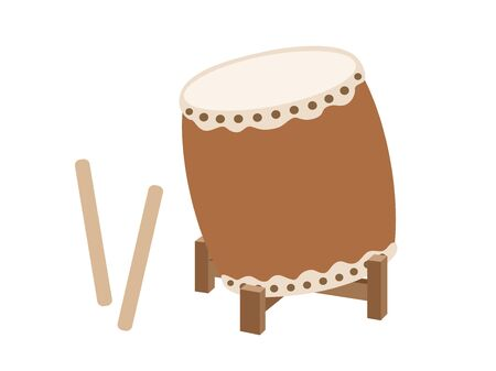 Japanese drum Stock Vector - 125896946
