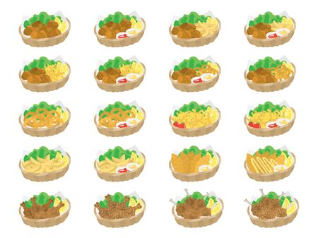 Fried food Illustration