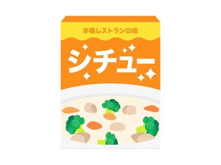 Illustration of stew instant food. 일러스트