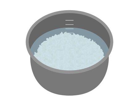 Rice cooker Illustration