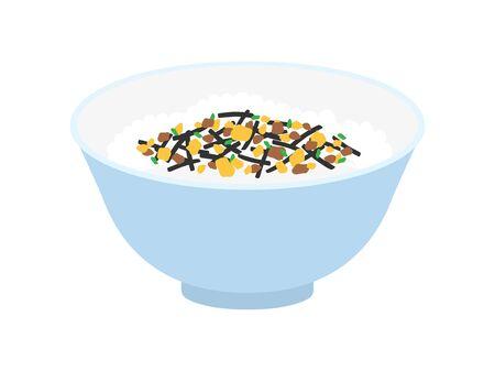 Illustration of sprinkled rice. 일러스트