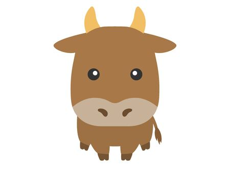 Illustration of the cow's character.