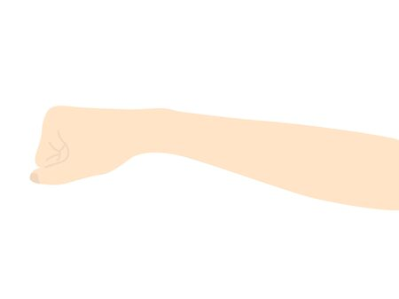 Illustration of a hand holding a fist 일러스트