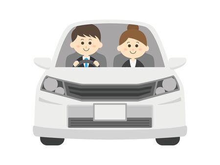 Drive a car Ilustração