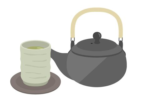 Illustration of a Japanese teapot.