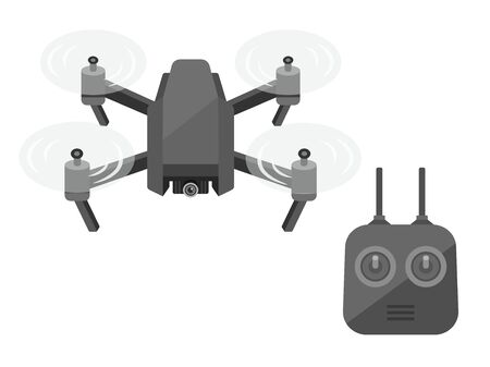 Illustration of drone and controller.