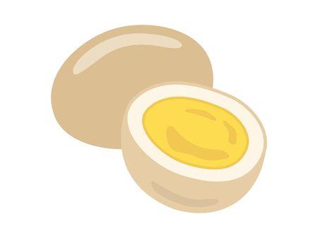 Illustration of oden eggs